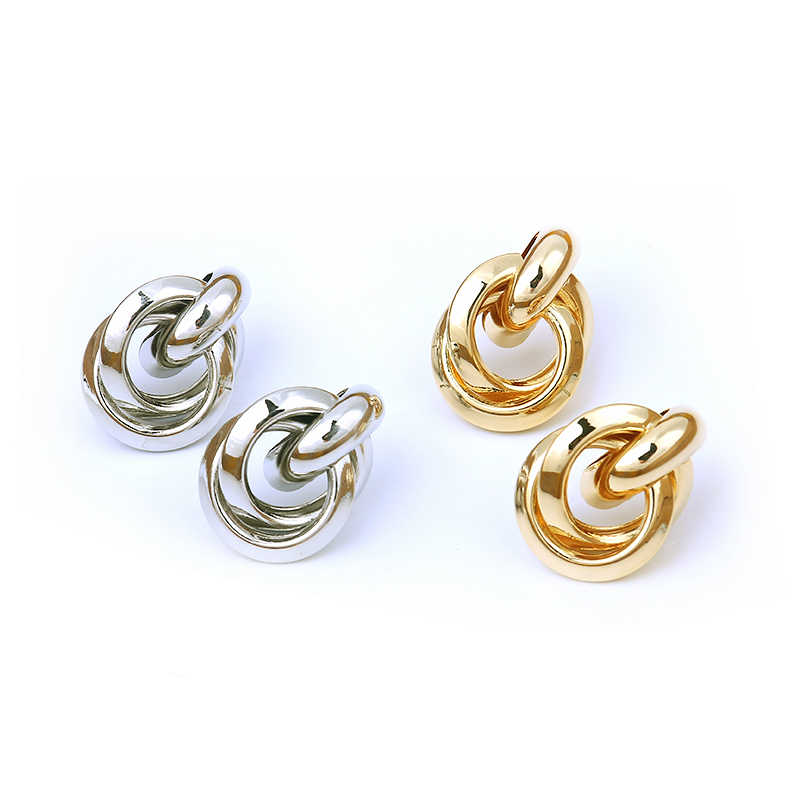 LWONG 2018 New Gold Silver Color Knotted Stud Earrings Classic Twisted Small Stud Earrings Cute Solid Minimalist Studs Jewelry