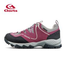 2016 Clorts Womens Hiking Shoes HKL-826E/F Breathable Cotton Fabric Rubber Woman Hiking Boots Outdoor Shoes Camping Sneakers