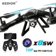 X8SW RC Quadcopter Helicopter 2.4G 4CH 6-Axis Quadricopter Drones 720P FPV Drone Can Add Real-time 1.0MP HD Camera