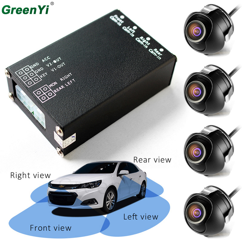 Car Parking Assistance Panoramic View All Round Rearview Camera System For All Car Universal With Monitor