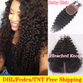 Peruvian Deep Wave Closure 4x4 Virgin Human Hair Closure With Bleached Knots Free Middle 3 Part Closure,Deep Wave Lace Closure