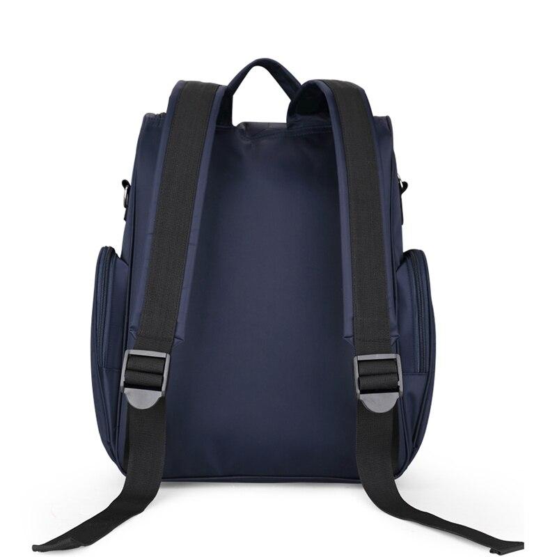 Bolsa de pañales de gran capacidad impermeable bolsa de pañales moda mamá maternidad mochila de viaje bolsa de lactancia para el cuidado del bebé bolso de las mujeres - 2