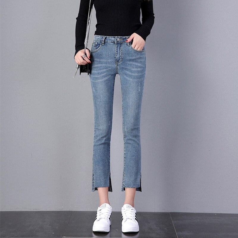 JUJULAND  Jeans Female Denim Pants Black Color Womens Jeans Donna Stretch Bottoms Skinny Pants For Women Trousers Plus Size 8221