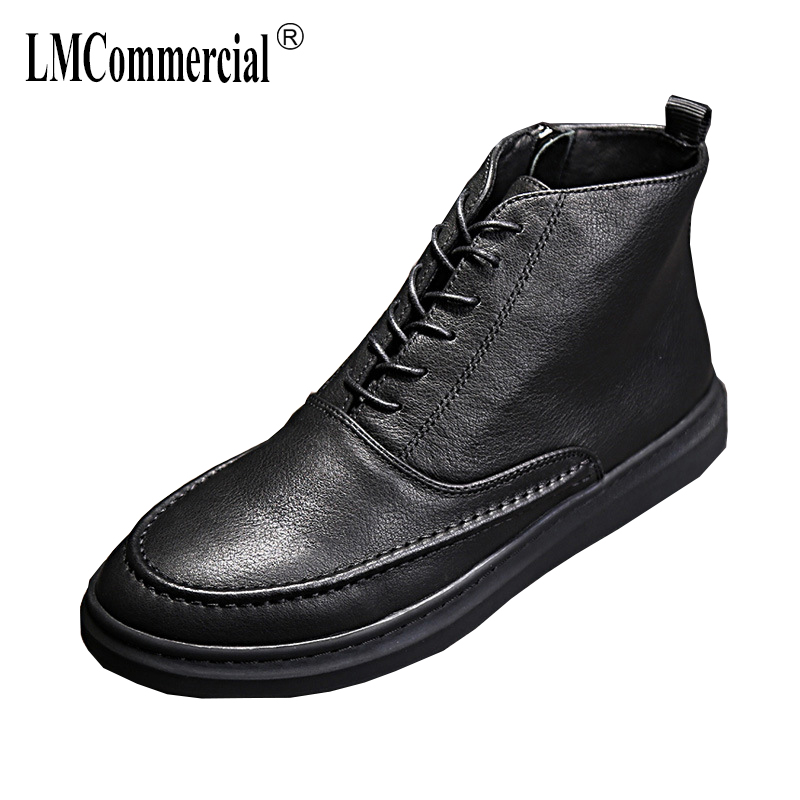 Martins men's shoes all-match cowhide short Martin boots British Genuine leather Chelsea boots men autumn winter casual shoes 2017 new autumn winter men leather shoes casual all match british tide fashion shoes breathable sneaker shoes