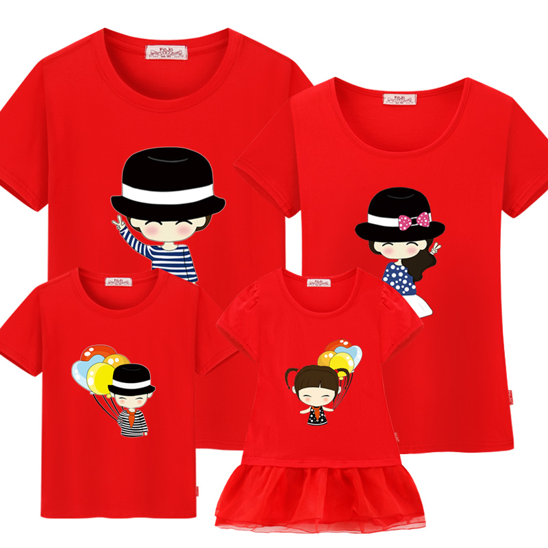 Family Matching clothes Mother and son outfits 2017 family character clothes mother and daughter dress  family look t shirt girl