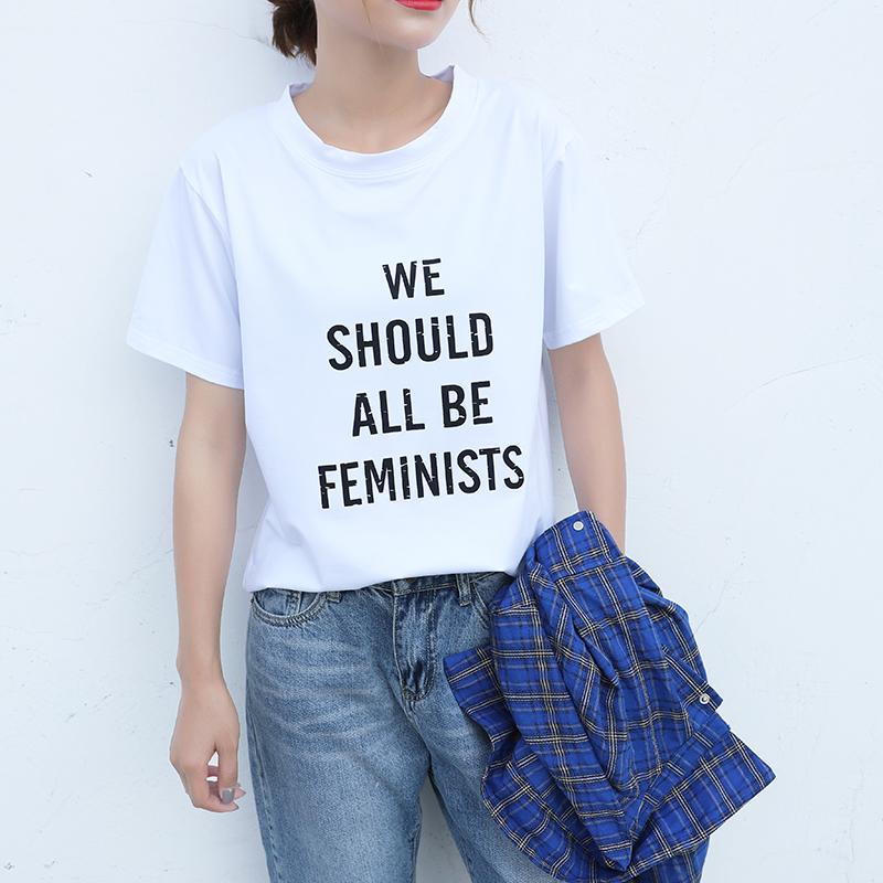 HTB1lMCBQFXXXXbUXXXXq6xXFXXXm - New Design 13 Styles Women Casual White T Shirt Female
