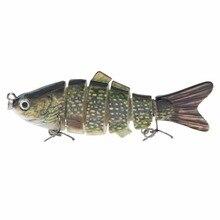Piscifun Fishing Lure 10cm 20g 3D Eyes 6-Segment Fishing Hard Lure Crankbait With 2 Hook Fishing Hard Baits Pesca Cebo