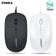 New Forka Silent Click Mini Wired Computer Mouse Portable Mute Desk Optical Mouse Mice for PC Computer Laptop Desktop hp z3700 mute slim optical 2 4ghz wireless mouse silent colorful 1200dpi laptop computer mice