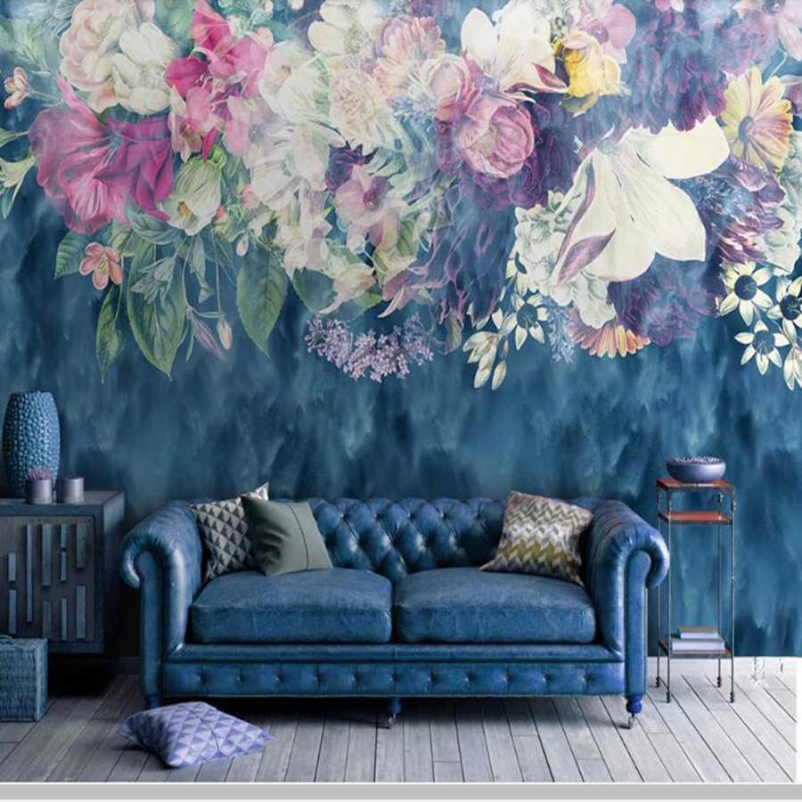 Скандинавские винтажные абстрактные розы 3d обои papel де parede, гостиная диван ТВ стены спальни Ресторан барная Фреска