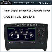 7''TFT LCD touch screen digital car DVD player with GPS for audi TT MK2 ,compatible with the hard disk by USB port