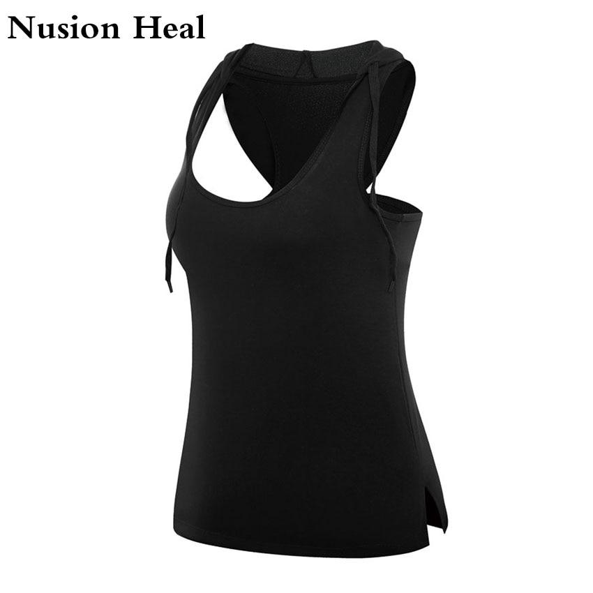 NUSION HEAL női jóga top női jóga ingek ujjatlan tornaterem ingek fitness ruházat ing női sport tops női sport ing