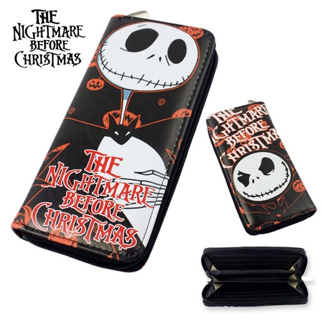 the nightmare before christmas jack wallets purse toy jack zipper long wallet xmas gifts 195cm