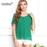 Nueva tendencia de moda gran tamaño de color puro gasa Tops verano fresco de estilo acogedor buena calidad suelta blusa casual 10 color s-3xl