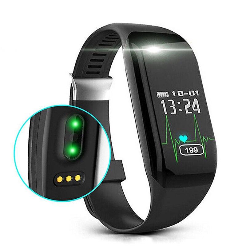 Hembeer Pulsomètre Montre Fitness Bracelet Podomètre Intelligent Bande Fitness Montres Cardiofréquencemètre Smartband Pour xiaomi pk fitbits