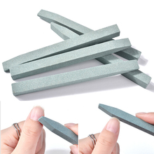 2 pieces Unique Stone Nail File Cuticle Remover Trimmer Buffer Art Tool Pink Green Color Options