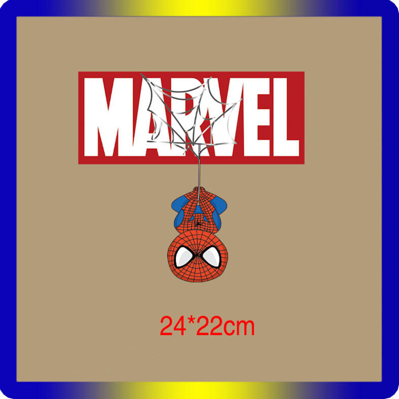 🛒 Cartoon Superhero Patch Iron on Transfer Superman