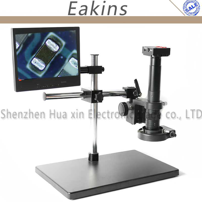 цены 16MP 60FPS 1080P HDMI Indusry Video Microscope Camera TF Video+180X/300X C-Mount Lens+Dual Arm Stereo Table Stand+Light+8