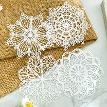 KLJUYP белые кружевные бумажные салфетки/салфетки для украшения свадебной вечеринки, товары для скрапбукинга, бумажные поделки