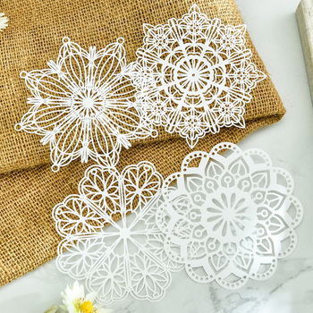 KLJUYP White Lace Paper Doilies/Placemats for Wedding Party Decoration Supplies Scrapbooking Paper Crafts 1