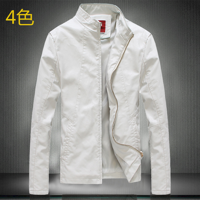 Popular White Leather Jacket Men-Buy Cheap White Leather Jacket ...