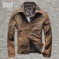 Урожай из натуральной кожи куртка пальто 100% овчины куртка мотоцикла натуральная кожа пальто весте cuir homme cappotto LT1026