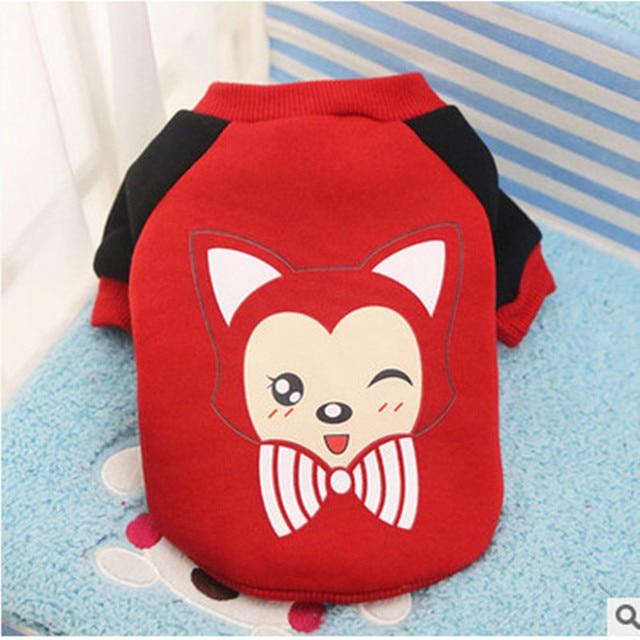 Dog Cat Grid Sweater Puppy Warm Coat T-Shirt Pet Clothes Shirt Dog Apparel Cartoon print Dog Clothes DropShipping