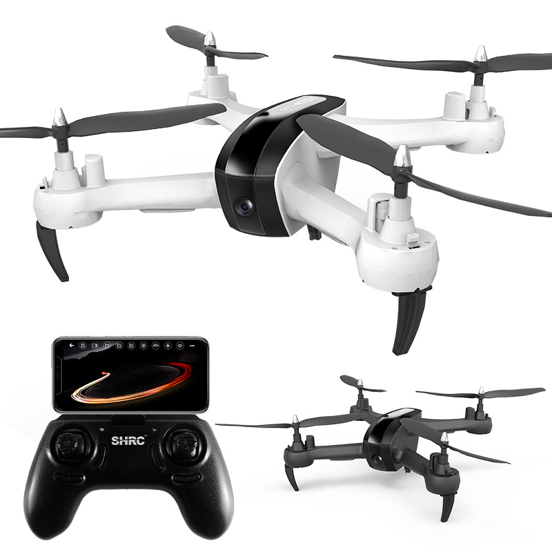 Image 1 - HR aerial photography drone SH7 remote control aircraft intelligent follow gesture photo video four axis aircraft-in RC Airplanes from Toys & Hobbies