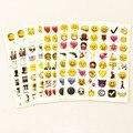 MOOBIFFY 1 ШТ. лист (48 наклейки) Милый Прекрасный 48 Die-Cut Emoji Улыбка Наклейки Для Ноутбуков Сообщение Высокой винил Забавные Creative