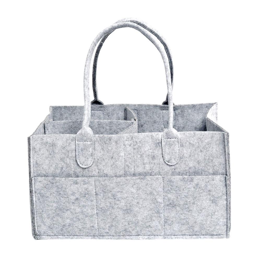 Travel Organizer Nursery Bag Nappy Travel Storage Bag Bins Bra Underwear Clothing Storage Organizer Felt Baby Diapers Organizer
