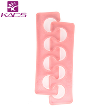 KADS Hotsale 10pair/set Silicone Gel foot fingers Five Toe Separator Thumb Valgus Protector Bunion adjuster Guard feet care tool