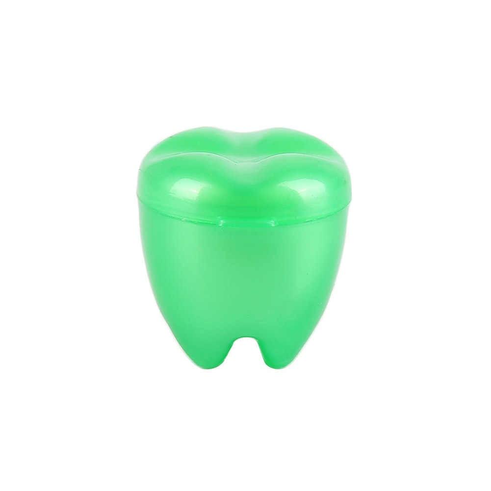 4 pcs Multicolor เด็กฟันผลัดใบบรรจุทันตกรรมนมฟันกล่องคลินิกทันตกรรมขนาดเล็กของขวัญเด็กฟันกรณี