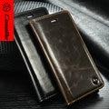 CaseMe Кожаный Бумажник Case Для iPhone 6 Plus Уникальный Manget Функция Для iPhone SE 5 5S 6 6 S Крышка