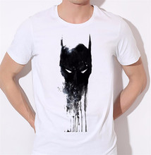 Batman mask, dark face printed t-shirts men clothing manufacturers direct marketing can be customized according to the pictures