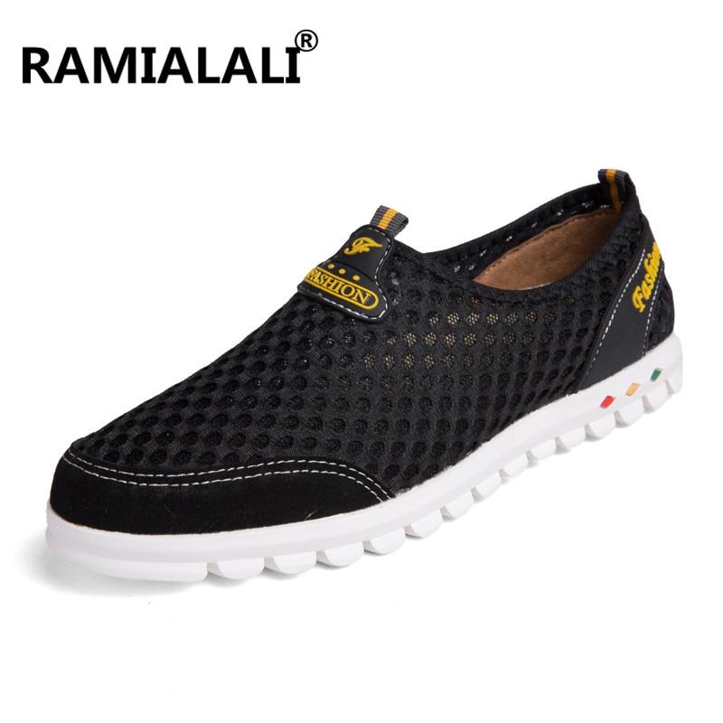 Mâle Ramialali Hommes Lumière Douce Taille Occasionnels D'été on Maille Respirant Chaussures Homme Slip Chaussure Brown Grande light Noir jaune bleu wY5Arwq