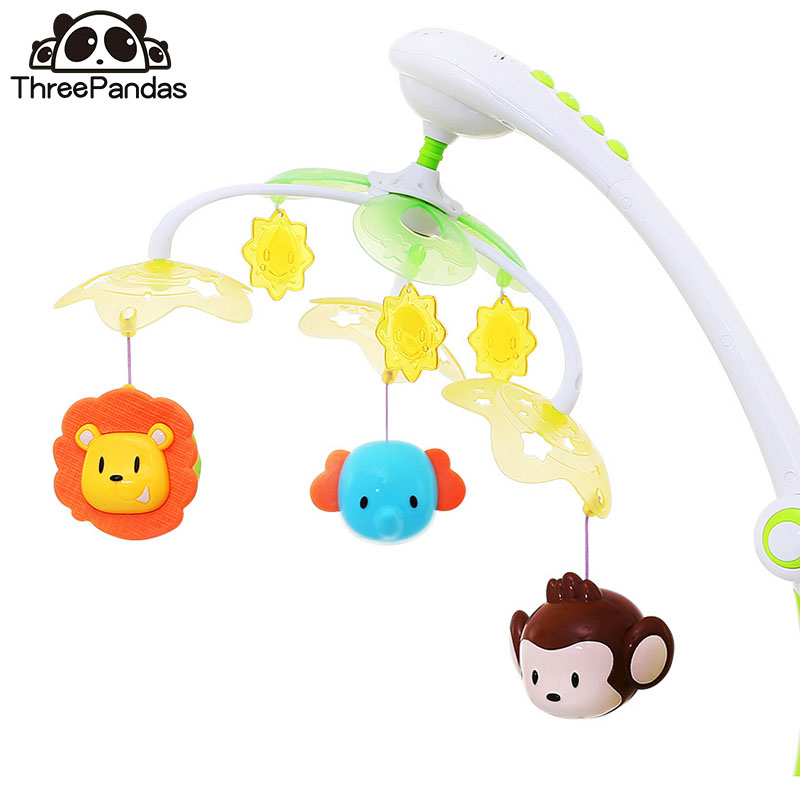 0-12 Months Baby Crib Musical Mobile Bell Star Projection Hanging Bell Mobile For Baby Cribs Mobile On The Bed Toy For Newborns ноутбук acer extensa ex2511g 56hl core i5 5200u 4gb 500gb dvd rw nvidia geforce 940m 2gb