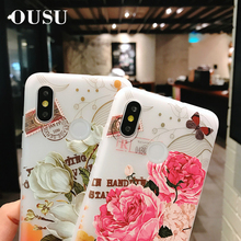 OUSU 3D Floral Frosted Silicon Case For iphone xs max x xr 5 6 7 8 plus Transparent Soft TPU Cute Cover oppo R9 11 15