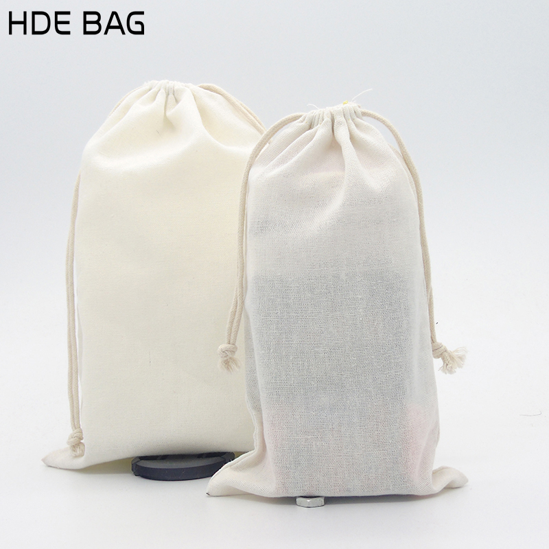 Eco-friendly Cotton Linen Drawstring Bag for Shoes Travel Sundries Container Cloth Bags Customized Own Logo Shopping Gift Bag
