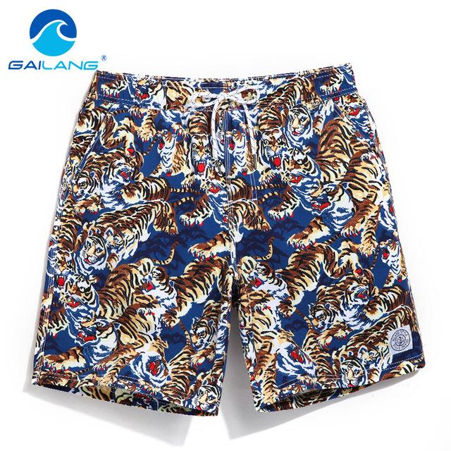Gailang Brand Mens Casual Shorts Summer Beach Man Swimwear Boardshorts Men Board Short 2017 Quick Drying Bermuda Swimsuit Cargos