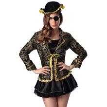 Juego de halloween fiesta de carnaval cosplay piratas del caribe fancy dress plus size sexy traje de adultos disfraces de piratas mujeres