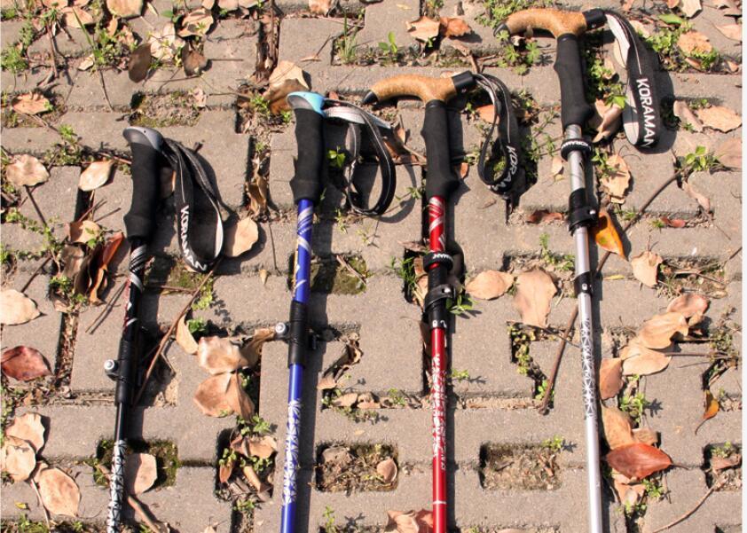 Bâton d'escalade extérieur pliant serrure ultra-léger bâton d'escalade ultra-court étirement équipement de randonnée livraison gratuite