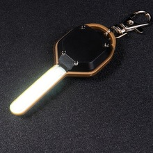Small Size ABS LED Flashlight Light Mini Key Shape Key Chain Ring Keychain Lamp Torch Emergency