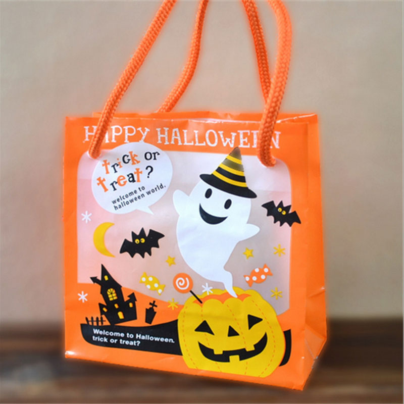 5 pcs/lot Halloween Environmental protection plastic Candy bag gift Packaging bags Hand bag Holiday party supplies