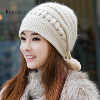 Winter Hat Female Knitted Hat Autumn And Winter Fashion Ear Women S Toe Cap Covering Cap