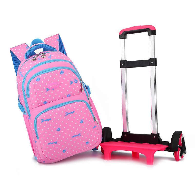 2019 À Prova D' Água Carrinho de Rodas Sacos De Bagagem Sacos de Viagem mochilas Escolares mochilas Escolares Crianças Meninas Mochilas Crianças Mochilas Circulante