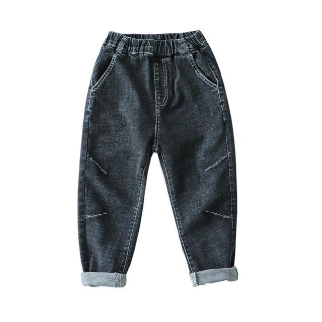 Toddler Boy Jeans Kids Denim Pant Korean Clothing For Baby Boy 2019 Spring Print Long Children Jeans Garcon Big Boy Trousers 12