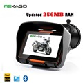 Free Shipping 4.3 Inch Updated 256RAM Motorcycle GPS Navigation System  - Waterproof, 8GB Internal Memory, Bluetooth,Map