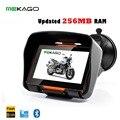 O Envio gratuito de 4.3 Polegada Atualizado 256RAM GPS Da Motocicleta Sistema de Navegação-À Prova D' Água, 8 GB de Memória Interna, Bluetooth, Mapa