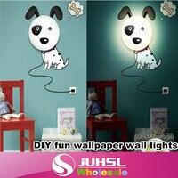 DIY pigs, sunflower, Dalmatians wallpaper wall lights, warm and fun children's room wallpaper lamp,novelty items,indoor lighting