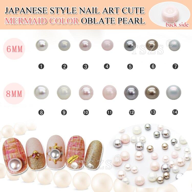 Schönheit & Gesundheit 25 Teile/los Japanischen Stil Neue Design Meerjungfrau Farbe Nette Nagel Perle 3d Dekoration