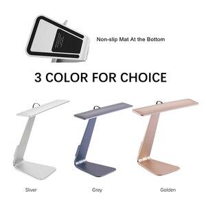 Image 4 - Lámpara de mesa de lectura ultradelgada, estilo Mac, LED de 200LM, 3 modos de atenuación táctil, lámpara de escritorio con batería integrada, luz nocturna suave